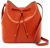 Lodis Gail Medium Leather Drawstring Bag