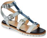 Christian Louboutin Poseidon Rocknbuckle Studded Caged Flat Sandals