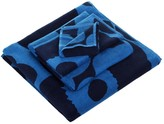 Marimekko Unikko Towel - Blue/Blue - Bath Towel