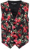 Dolce & Gabbana Silk-blend printed vest