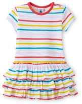 Petit Bateau Baby girl multicolor sailor-striped dress