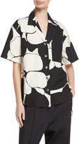 Marc Jacobs Oversized Abstract-Print Camp Shirt