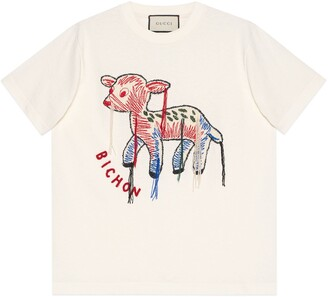 Gucci T-shirt with fawn patch