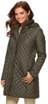 Chaps Women's Hooded Quilted Walker Jacket