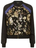 Juicy Couture Embellished Lace Bomber Jacket