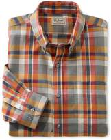 L.L. Bean Wrinkle-Free Heathered Sport Shirt, Traditional Fit Plaid