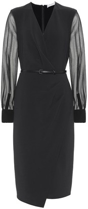 Max Mara Manuel stretch-wool crepe dress