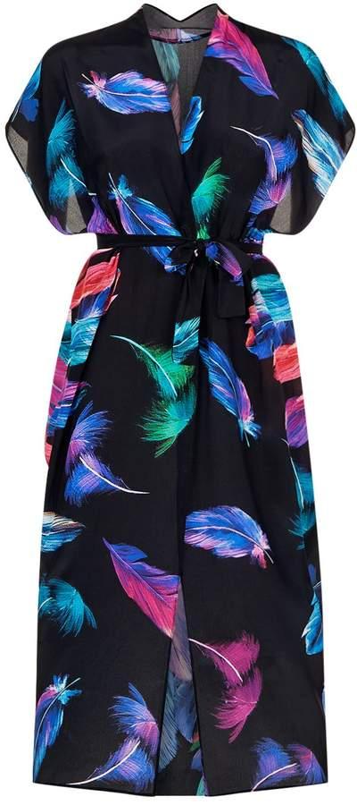 Gottex Silk Wrap Dress