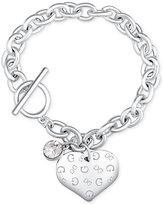 GUESS Heart Charm Toggle Link Bracelet