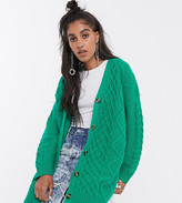 Reclaimed Vintage inspired oversized cable knit cardi