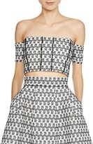 Maje Laya Off-the-Shoulder Crop Top