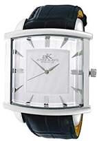 Adee Kaye Men's 43mm Black Genuine Leather Band Swiss Quartz Watch Ak2220-Msv