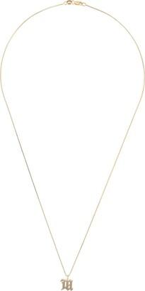 Misbhv Logo Plaque Necklace