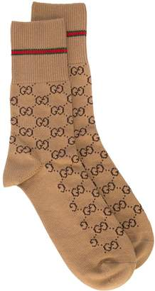 Gucci GG cotton socks with Web