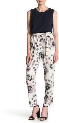 DKNY Floral Tie Waist Pants