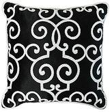 Veratex Deville Scroll-Embroidered Square Pillow