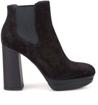 Hogan Block Heel Ankle Boots