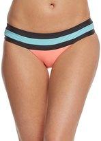 Pilyq Swimwear Coral Banded Color Block Teeny Bikini Bottom 8155833