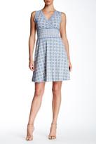 Max Studio Printed Surplice Dress