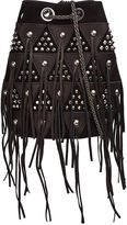 Jerome Dreyfuss Noir Leather Studded Patchwork Popeye Bag