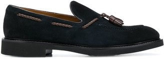 Doucal's Tassel-Embellished Suede Loafers
