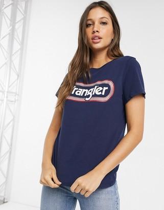 Wrangler classic circle logo t-shirt-Navy