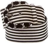 Chanel Velvet Interwoven Buckle Belt