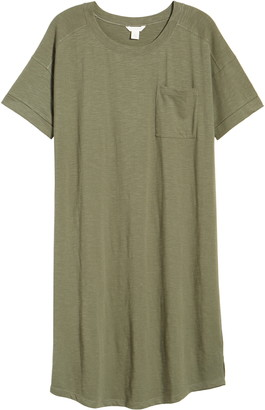 Caslon Pocket T-Shirt Dress