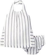 7 For All Mankind Halter Dress & Bloomer Set (Baby Girls)
