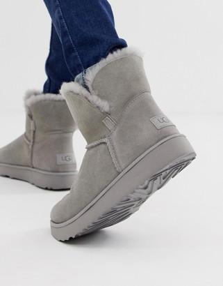 UGG Classic Cuff Mini Boot in Grey