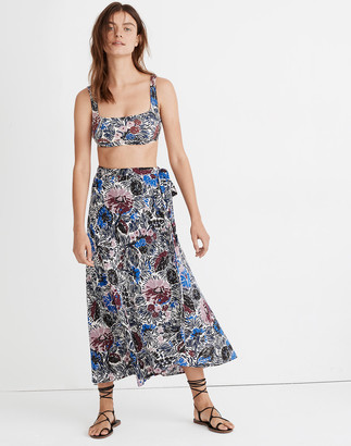 Madewell Cover-Up Wrap Skirt in Dutch Garden