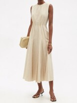 Thumbnail for your product : Brock Collection Teena Raw-edged Cotton-blend Dress - Beige