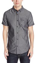 Burnside Men's Ink Short Sleeve Woven Shirt