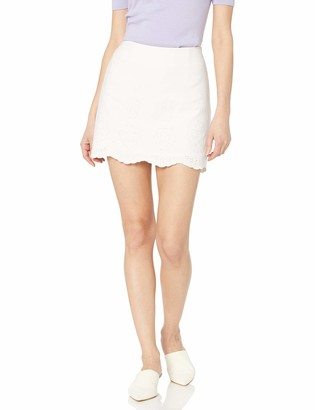 Cupcakes And Cashmere Women's tamsen Eyelet Embroidered Suiting Mini Skirt