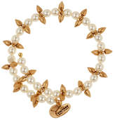 Alex and Ani Faux Pearl Spike Wrap Bracelet
