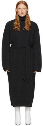 Nanushka Black Wool and Cashmere Canaan Turtleneck Dress