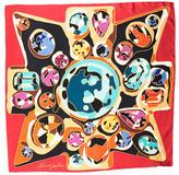 Kenneth Jay Lane Printed Silk Scarf w/ Tags