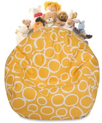 Majestic Home Goods Fusion Stuffed Animal Storage Bean Bag Chair Cover w/ Transparent Mesh Base, Multiple Colors