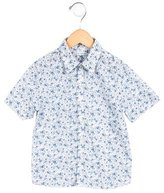 Dolce & Gabbana Girls' Floral Print Button-Up Top