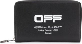Off-White Zip-Around Continental Wallet