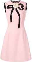 Gucci applique rose dress