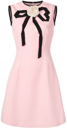 Gucci Applique Rose Dress