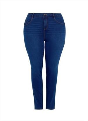 Dorothy Perkins Womens **Dp Curve Blue Mid Wadh Ellis Denim Jeans, Blue