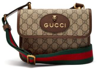 Gucci Gg Supreme Canvas Messenger Bag - Mens - Brown