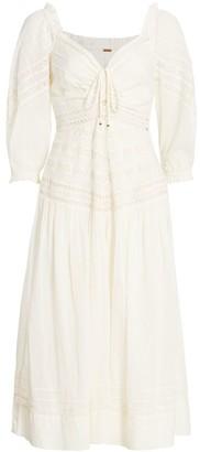 Free People Sweethearts Cotton Midi Dress