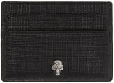 Alexander McQueen Black and Gunmetal Lino Skull Card Holder