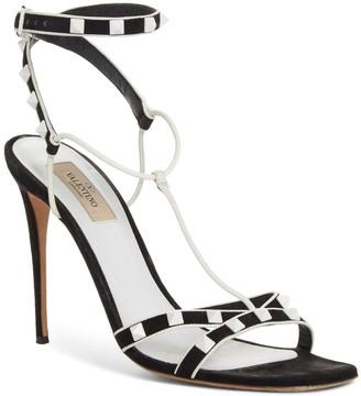 Valentino Free Leather Rockstud Stiletto Heel Sandal