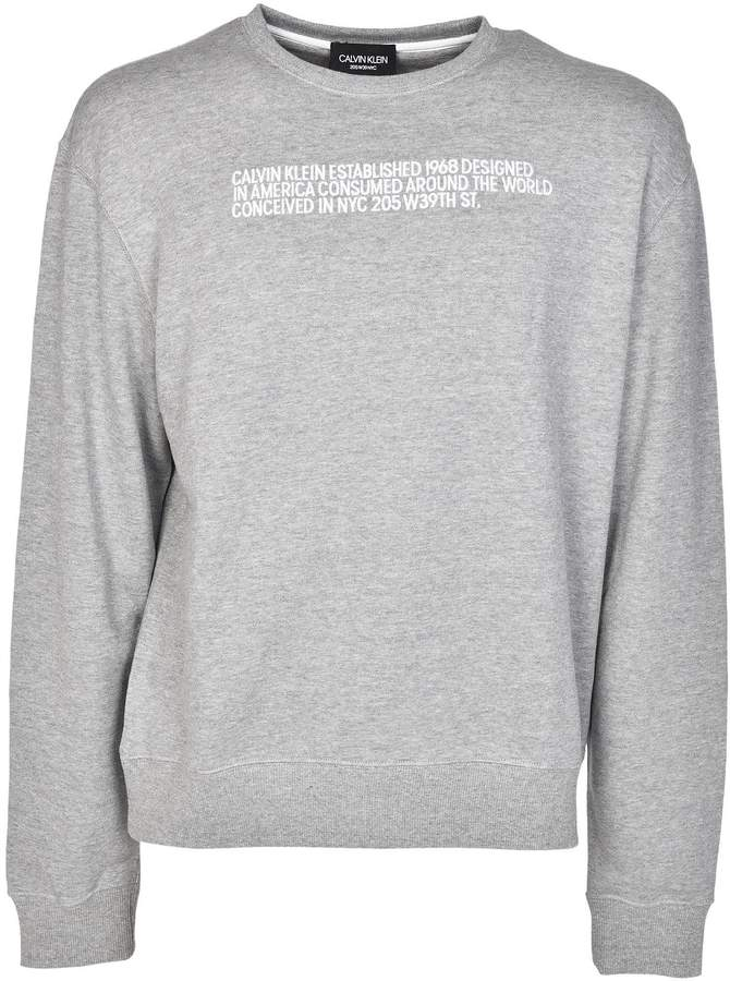 Calvin Klein Embroidered Description Sweatshirt