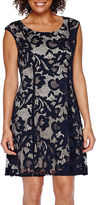 Ronni Nicole RN Studio by Sleeveless Lace Pleated Fit-and-Flare Dress