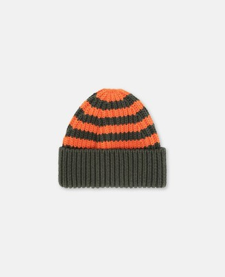 Stella McCartney Kids Striped Knit Hat, Men's